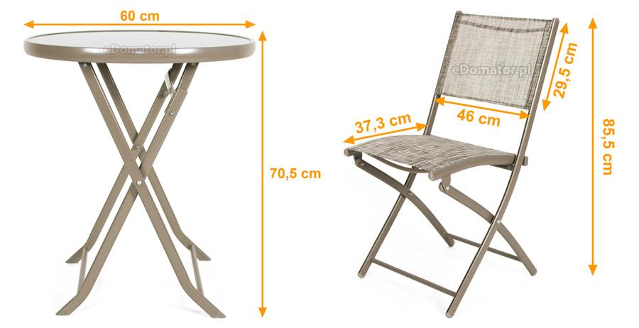 Wyprzedaż Krzesła Ogrodowe Balkonowe Składane 2 Szt